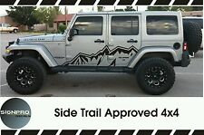 Jeep Wrangler Side Hood Door Fender Decal Rubicon Sahara Willy's Customize Text