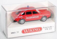 Wiking 086139 Feuerwehr - VW 411 Limousine mit Schrägheck 1:87