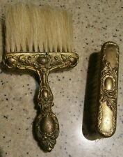 Vintage Brass Clothes & Hat Brush set