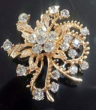 Gold Diamante Small Brooch Hijab Scarf Uk Based