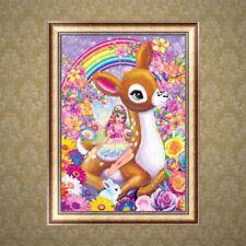 Fairy Sika Deer 5D Diamond Embroidery Painting Cross Stitch DIY Art Craft Decor