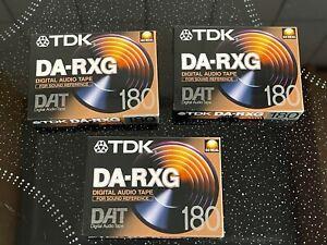 3 neue TDK DAT 180 • Digital Audio Tape • DA-RXG 180