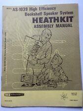 Heathkit Bookshelf Speaker System As-1039 Assembly Manual