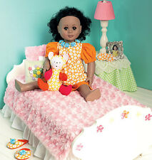 NUOVO McCalls Michelle HAINS / Heirloom cucito PATTERN 6718 letto insieme 18inch DOLL