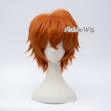 For Mystic Messenger 707 Short Hair 30CM Orange Daily Cosplay Wig + Free Cap