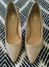 KK KARDASHIAN KOLLECTION Kim pumps high heels Wedding Bridal Shimmering Gold