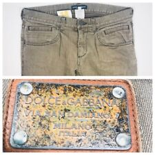 "Men's DOLCE & GABBANA Jeans US 34"" X 29"" BROWN Wash DENIM Zipper EUR 44"