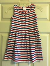 Hanna Andersson Striped Dress Girls Size 110 5