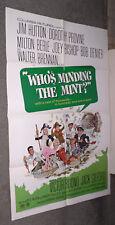 WHO'S MINDING THE MINT one sheet poster DOROTHY PROVINE/BOB DENVER/MILTON BERLE