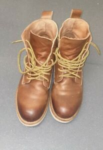 ASK THE MISSUS MENS GORGEOUS BROWN LEATHER BOOTS LACE UP BOOTS SIZE UK8/42EU