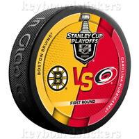 2020 Stanley Cup Playoffs Dueling Hockey Puck Boston Bruins Carolina Hurricanes