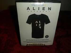 NWOT Alien: Covenant Exclusive Limited Edition T-Shirt Extra Large XL Black