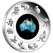 Australien - 1 Dollar 2020 - Great Southern Land - Opal-Münze - 1 Oz Silber PP