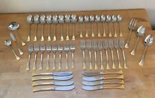 Vintage ESTIA Flatware Set Gold Plated 46 Pieces - SERVICE FOR 8 - Pattern ES18