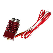 3D printer Improved  2 In 1 Out Hotend Kit Red Color for E3D Cyclops