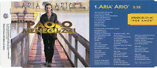 "PAOLO MENEGUZZI ""ARIA ARIO"" RARE SPANISH PROMOTIONAL CD SINGLE"