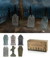 SET OF 6 Tombstones Gravestone Outdoor Halloween Decoration Prop Cemetery Haunt