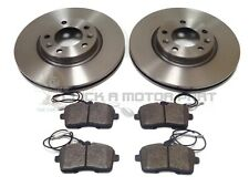 PEUGEOT 407 1.6 1.8 2.0 HDi 2004-2011 FRONT 2 BRAKE DISCS & PADS (CHECK SIZE)