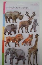 Animal Craft 3D Embossed Sticker Embellishments-Wild Animals Puffy Stickers