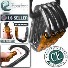 30KN Aluminum Alloy Screwgate Locking Carabiner D-Ring Hook for Climbing Caving