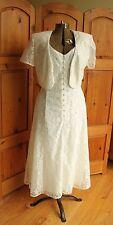 Vintage Beechers Brook Mother of the Bridge Lace White Wedding Dress & Jacket