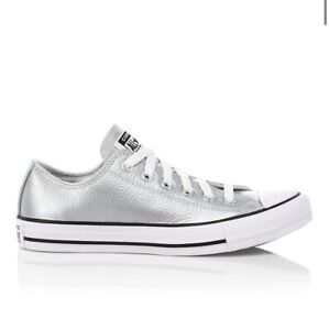 Converse All Star Metallic Silver