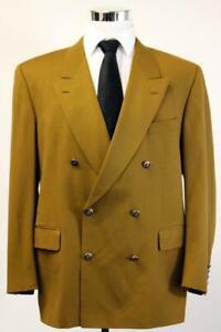 Vintage PIERRE CARDIN PARIS Brown DOUBLE-BREASTED Jacket Blazer Sport Coat 44 R
