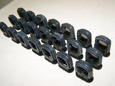 10 Alte Kabelklemmen Size M Bakelit für Schalter Steckdose Kabelschelle