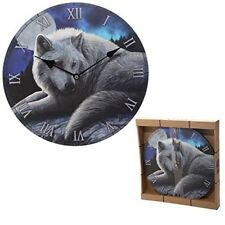 Guardian Wolf Design Decorative Wall Clock - Picture