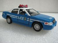 Kinsmart Ford Crown Victoria Police Interceptor 1:42 diecast model toy fun BLUE
