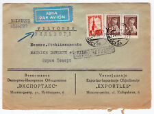SU/Russia-1959-3 Definitives,genuine used on Air mail cover to Belgium