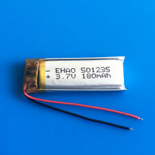 3.7V 180mAh Li Po Polymer ion Battery 501235 for MP3 MP4 GPS Headset Bluetooth