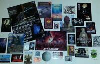 Star Wars 30 piece Promo Lot - Posters, Postcards, Stickers, Trading Cards more!