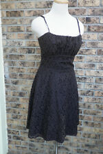 Alyn Paige brown lace bridesmaids formal evening cocktail dress 9 /10