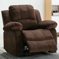 MANUAL RECLINER CHAIR ARMCHAIR SOFA SEAT LIVING ROOM FURNITURE SEATING FABRIC
