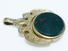 VICTORIAN ROLLED GOLD FILLED GF CARNELIAN BLOODSTONE SPINNING WATCH FOB PENDANT