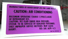 Land Range Rover NAS Nada V8 TDI Klimaanlage Klimaanlage V8 Abziehbild btr7762