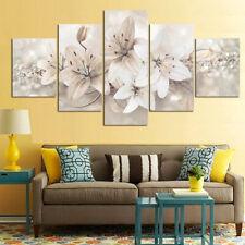 5Pcs Modern Blumen Leinen Malerei Wandkunst Heim Dekor Bild Dekor Set Geschenk