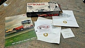 1970 Redline Hot Wheels Club Kit.  ORIGINAL BOX , BOSS HOSS, MAGAZINE, IRON ON..