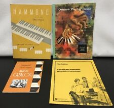 Lot of 4 VTG Books Hammond Organ Owne's Playing Guide Music Catalog Tiny Bubbles