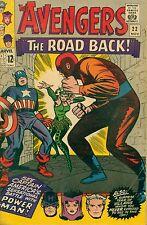 """*MARVEL (1965) THE AVENGERS #22 -- November  - """"The Road Back!""""  - 6.5 FN+"""