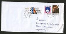 SLOVENIA TO SERBIA-TRAVELED LETTER-OLYMPICS-1993.