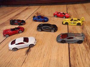 Toy Car Bundle/Lot Hotwheels x8 Sports-Super Cars Pagani/Bugatti/Ferrari/Mclaren