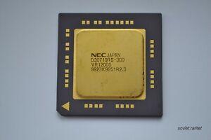 Vintage Gold Ceramic CPU NEC D30710RS-300 VR12000 JAPAN
