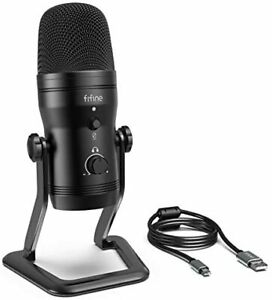 FIFINE USB microphone Condenser microphone Stereo recording microphone With mut