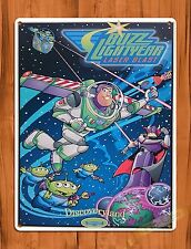 "TIN SIGN Walt Disney  ""Buzz Lightyear"" Toy Story Ride Poster"