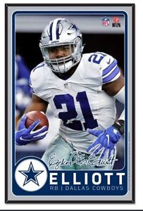 Ezekiel Elliott Dallas Cowboys NFL Fan Cave Wall Sign