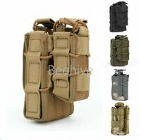 New MOLLE Tactical Open Top Single Rifle Pistol Mag Cartridge Pouch Hunting Bag