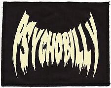 PSYCHOBILLY FLESHTONE BLACK PATCH VAMPIRE BAT HORROR PUNK ROCKER