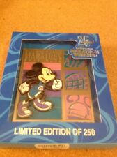 2018 Run Disney WDW Marathon Weekend 25 Years LE 250 3x4in Mickey Jumbo Pin